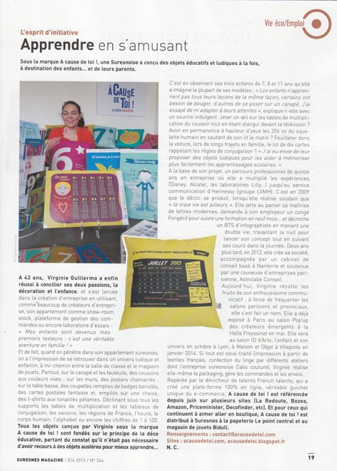 article suresnes magazine